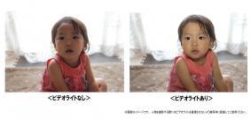ユースケース例 室内の逆光撮影においても被写体の顔を明るく撮影することが可能