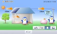 パナソニックの「ワイヤレスエネルギーモニタ(7型)」 画面イメージ