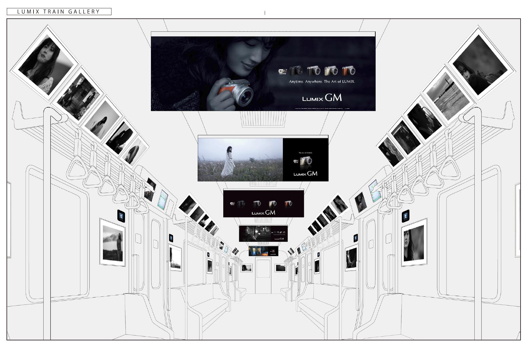 綾瀬はるかさんを新デジタル一眼カメラLUMIX「GM」で撮りおろした電車写真展
