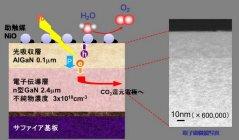 光電極の断面構造 人工光合成システム