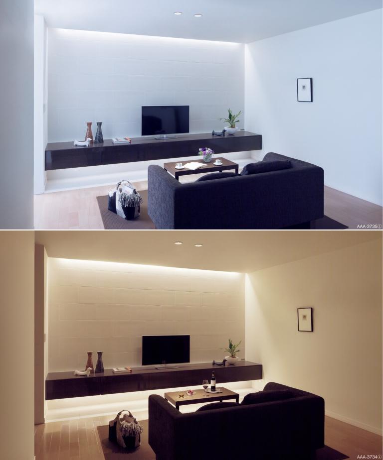 パナソニックの「シンクロ調色 LED建築化照明」(設置事例)