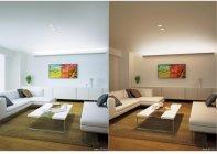 パナソニックの「シンクロ調色 長手配光LED間接光ブラケット」(設置事例)