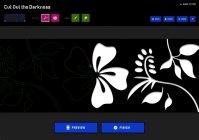サイト上でユーザーが自由にデザインできる「切り絵ツール」