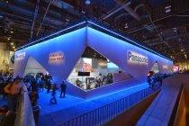 CES2014パナソニックブース。約1600m2の開放的で一体感のあるブースデザイン