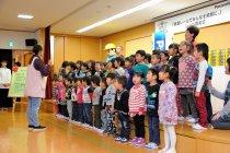 園児からお礼のお歌の披露