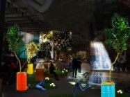 店内に大自然を呼び起こすデジタルアート(株式会社アダストリアホールディングス提供 )