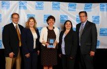 授賞式にて EPAおよびPESNA代表者