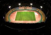 パナソニックのLED投光器を納入したパロマ瑞穂スタジアム(夜間)