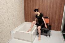 浴槽の高さ40cmでまたぎやすい「セルフィーユ」