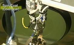 樹脂スピンコート法による量産製造技術