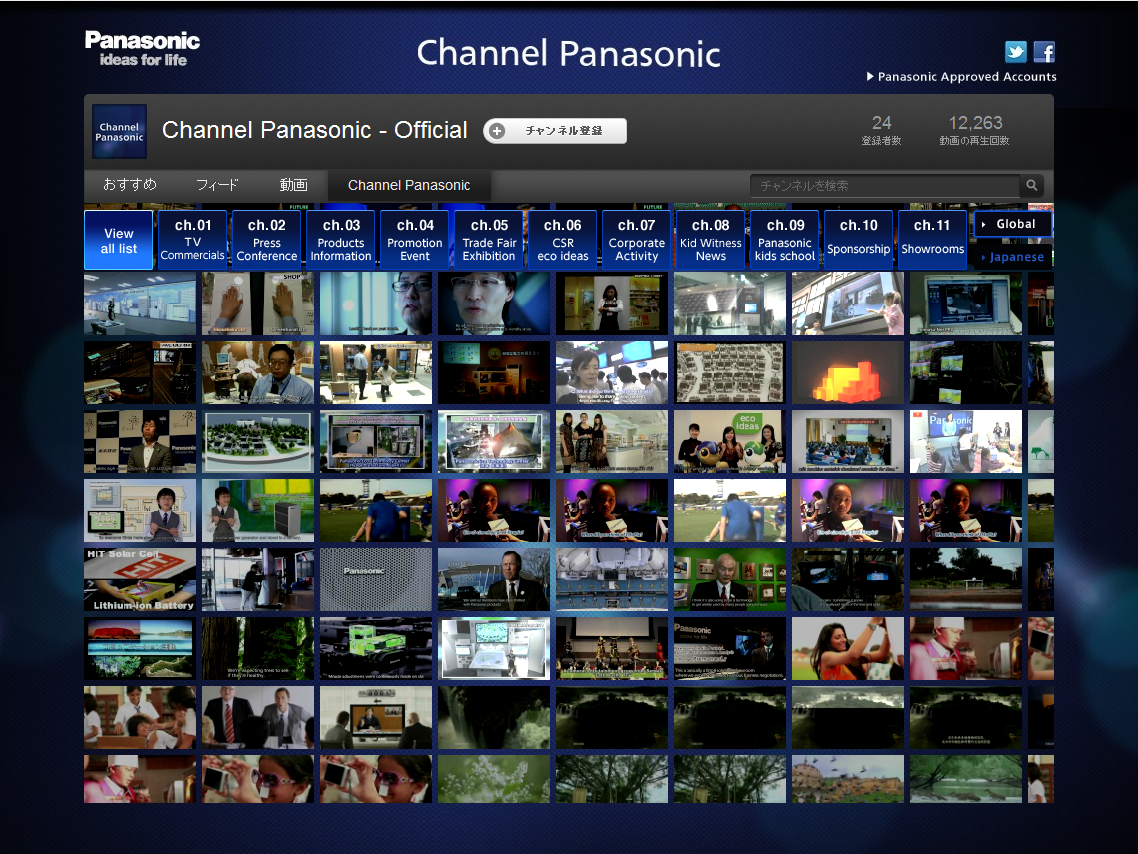 YouTube - Channel Panasonic