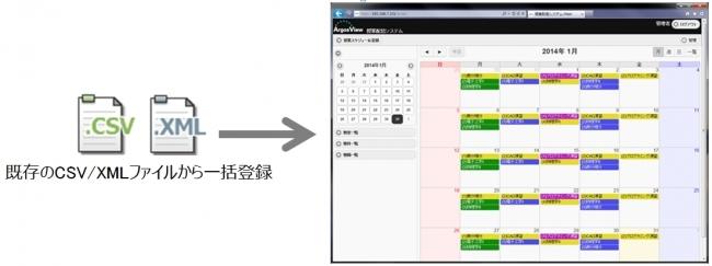 「ArgosView 授業配信システム Ver. 1.3」収録スケジュール一括登録機能