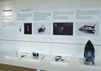 パナソニックのデザインフィロソフィーと代表的な受賞商品を展示