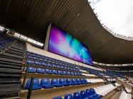 スタジアムに設置されたのは220平方メートルのディスプレイ
