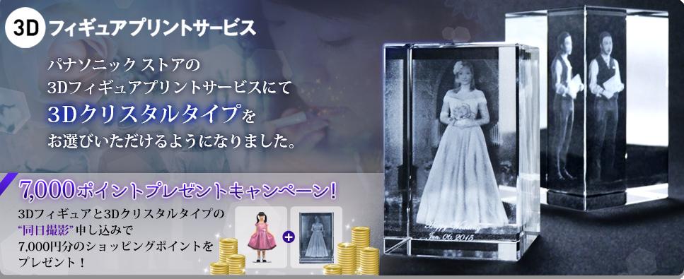 3Dフィギュアプリントサービスに新メニュー「3Dクリスタルタイプ」登場!【パナソニック ストア】