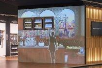 プロジェクションマッピングでキッチン以外の収納用途も提案:「カフェの収納(Cafe)」