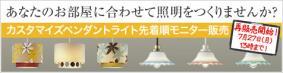 カスタマイズペンダントライト【先着順モニター販売・第二弾】