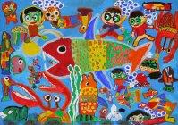 第9回環境絵画コンクール【優秀賞】池之優斗さん(4年生)鹿児島県