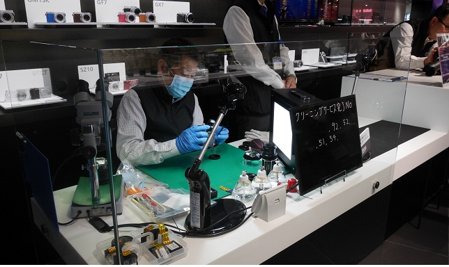 LUMIXデジタル一眼カメラ クリーニングサービス@パナソニックセンター大阪(2015年4月の様子)