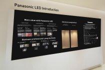 パナソニックのLED照明について紹介しているコーナー