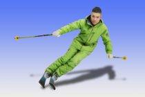 スキーヤー:井山 敬介氏 3Dプレミアムフィギュア製作例 製作協力:ミズノ株式会社様