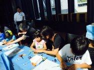 パナソニックが協賛した「親子LED工作教室」実施風景(1)
