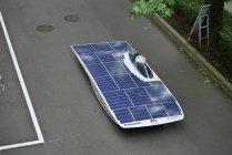 パナソニック太陽電池モジュールHITとリチウムイオン電池を搭載した東海大学の新型ソーラーカー(1)