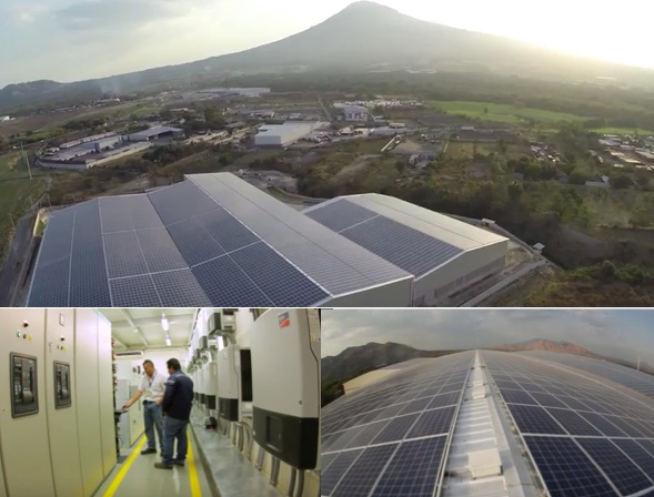 エル・アンヘル綿織物倉庫に導入されたパナソニックの太陽光発電ソリューション