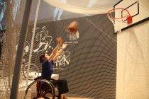 「The World of Sports」車いすバスケットボール体験コーナー