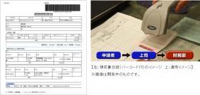 領収書台紙(バーコード付き)の運用イメージ