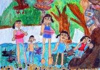 【優秀賞】冨田結加さん(1年生) 第10回環境絵画コンクール