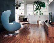 寄木調の床「アーキスペックフロアー ヨセギ」クリアチェリー色 使用イメージ