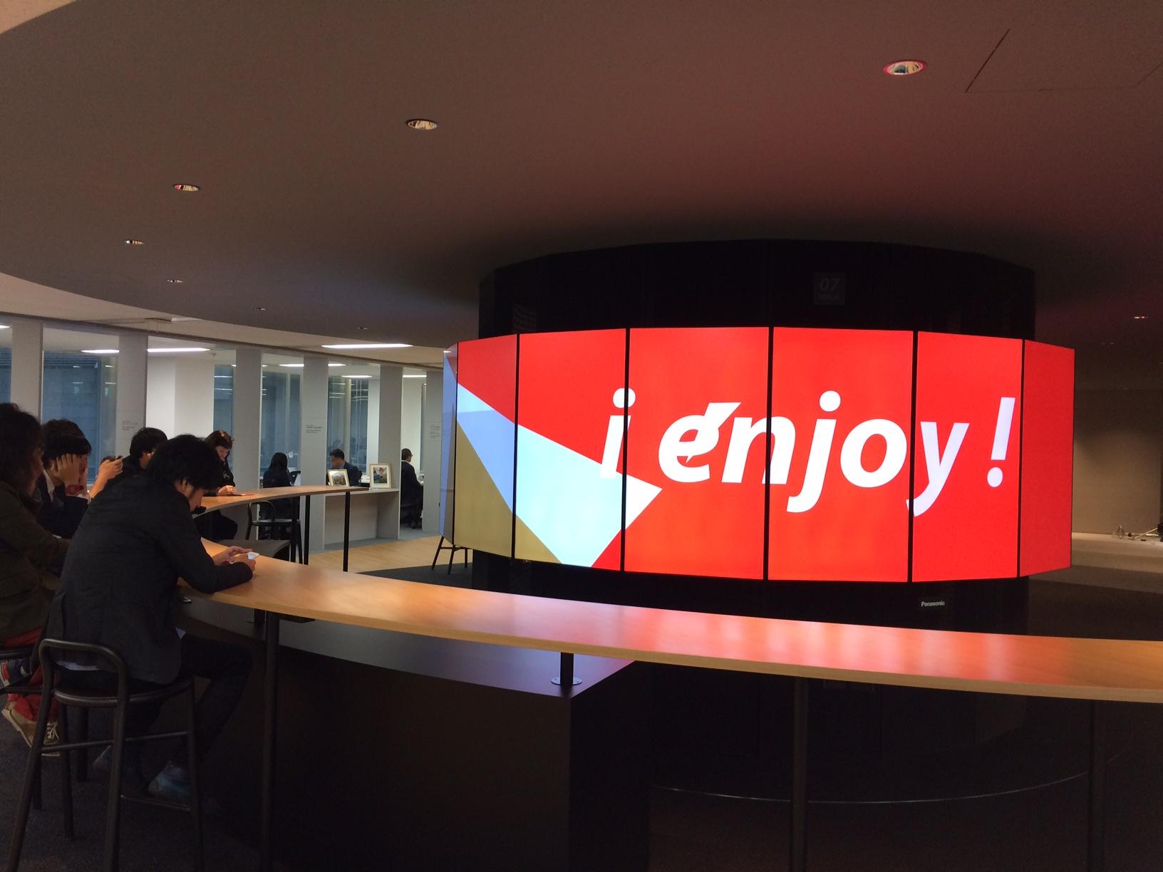 「日本財団パラリンピックサポートセンター」新オフィスに設置されたデジタルサイネージシステム