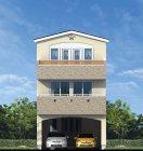 パナソニックの耐震住宅工法「テクノストラクチャー」(3階建狭小住宅イメージ)