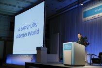 第17回日経フォーラム「世界経営者会議」での講演の様子