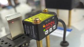 「CMOSタイプ マイクロレーザ測距センサ HG-C」は、業界最小クラスの形状