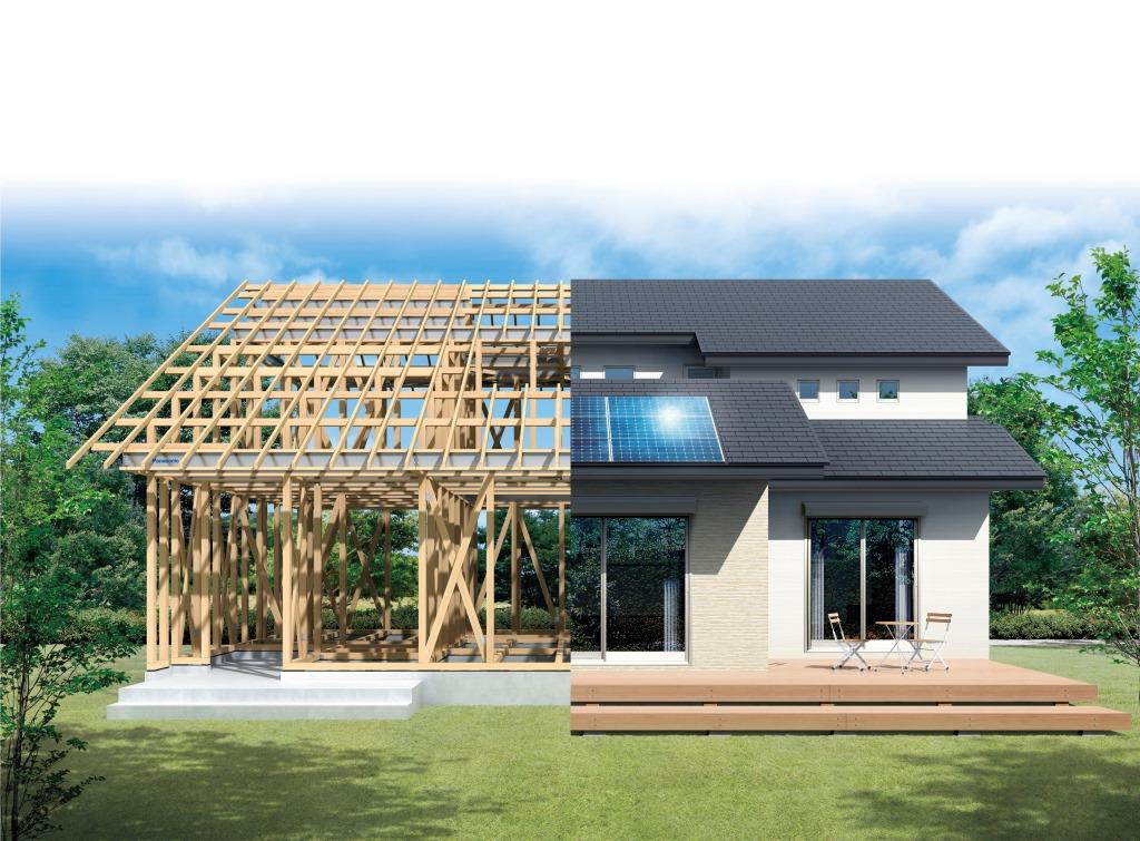 パナソニックの耐震住宅工法「テクノストラクチャー」工法イメージ