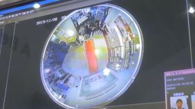 360度監視カメラ。監視カメラの映像を処理して顧客情報に生かす遠隔監視システム