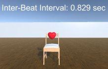 推定された心拍間隔を示す画面