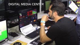 「デジタルメディアセンター」で場内のサイネージに映し出す映像を一元管理・コントロール
