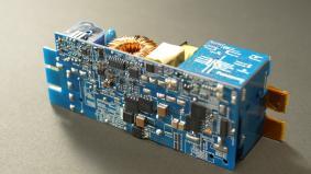出展商品例:GaN応用事例 「GaN搭載小型電源」