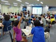 2015年の「手づくり乾電池教室」の様子