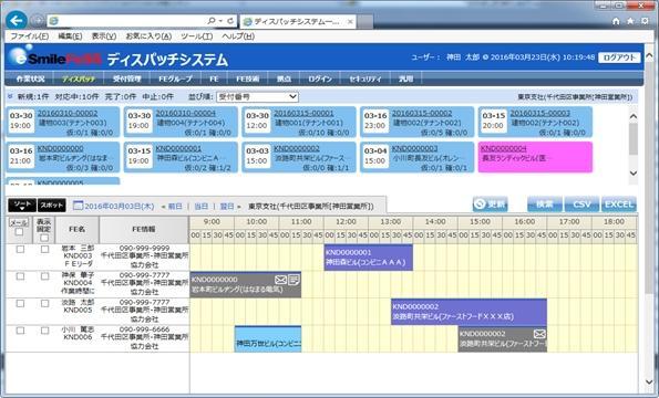 「eSmileFeSS」画面イメージ