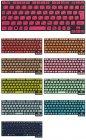 20パターンから選べるカラーキーボード