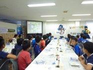 ガンバ大阪とのコラボレーションによる「手づくり乾電池教室」