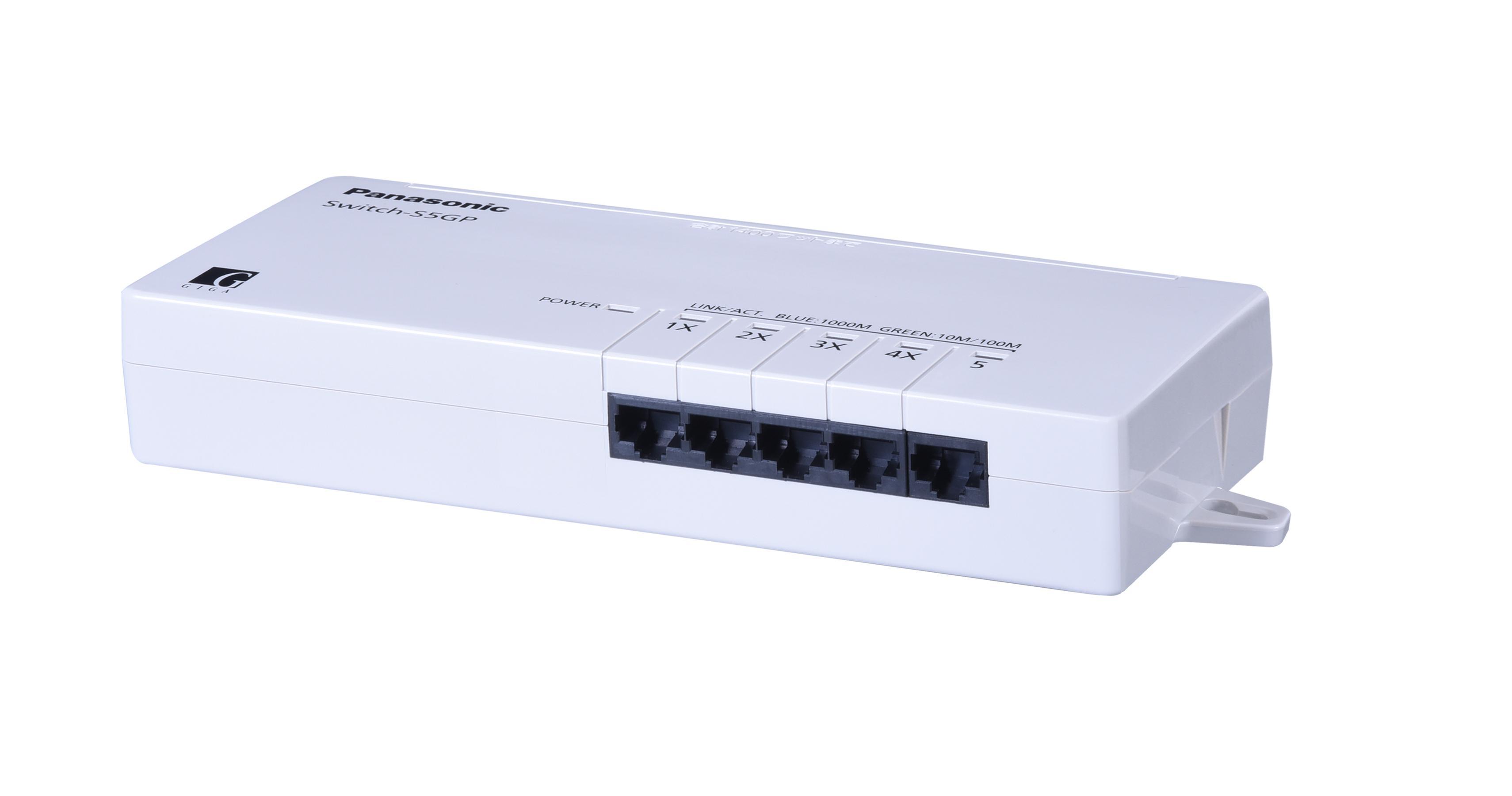 全ポートギガビット対応タップ型スイッチングハブ Switch-S5GP(LANポート側)