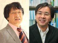 講演会「理数脳の育て方」リスーピア監修の埼玉大学 岡部名誉教授(左)と、東京理科大学 川村教授(右)