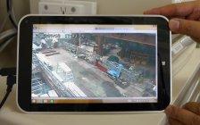 事務所や自宅にいても、タブレットやスマートフォンから現場の様子を確認可能