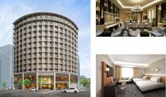 建設中のホテルの完成イメージ