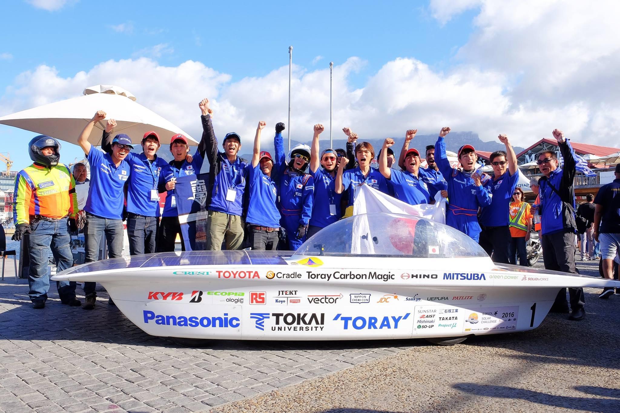 東海大学ソーラーカーチームが準優勝~南アフリカ共和国「サソール・ソーラー・チャレンジ 2016」